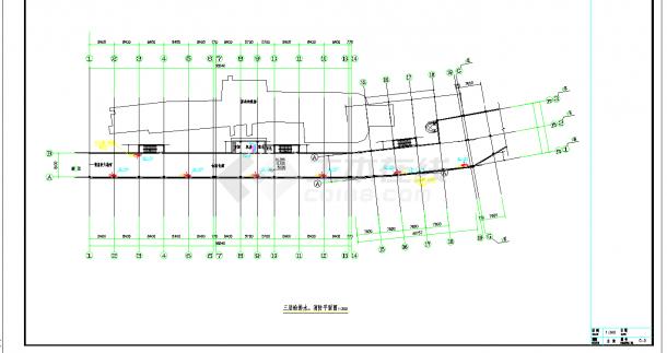 辽宁大型游乐园给排水全套施工图CAD图纸-图一