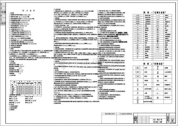 上海某广场空调通风设计cad全套施工图纸(含设计说明)-图一