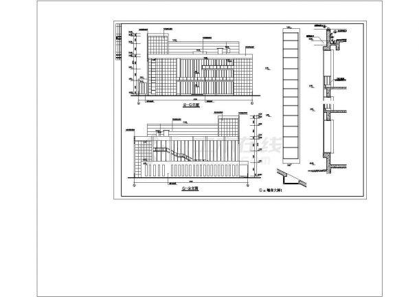 某商业中心五层办公楼cad总图纸设计-图一