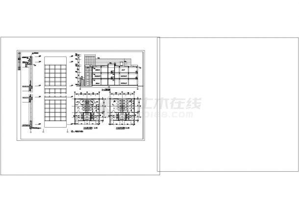 某商业中心五层办公楼cad总图纸设计-图二