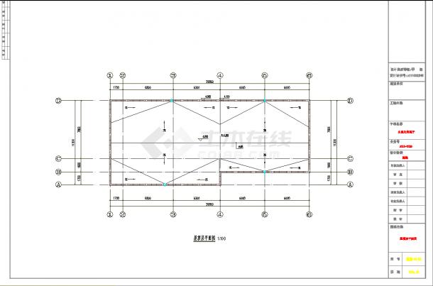 某地一层游乐园公厕及售票厅建筑结构施工图CAD图纸-图一