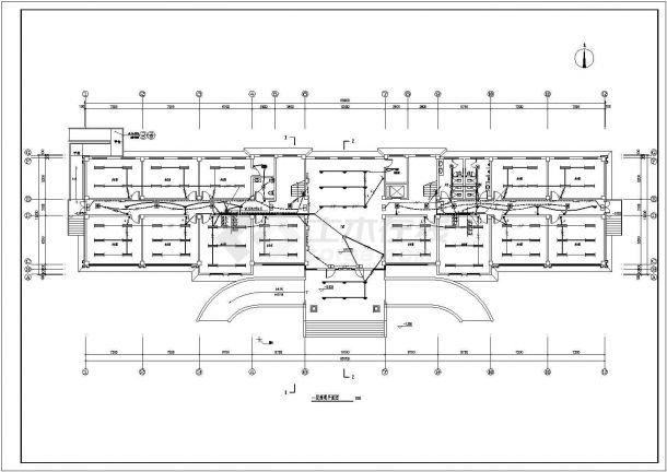 办公楼设计_某厂区五层办公楼电气施工CAD图纸-图一