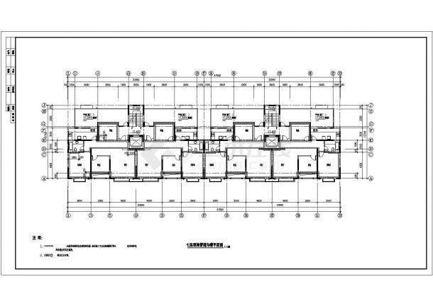 某高层住宅小区21栋楼建筑设计cad图纸-图一