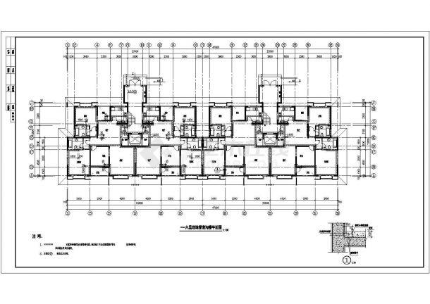 某高层住宅小区21栋楼建筑设计cad图纸-图二