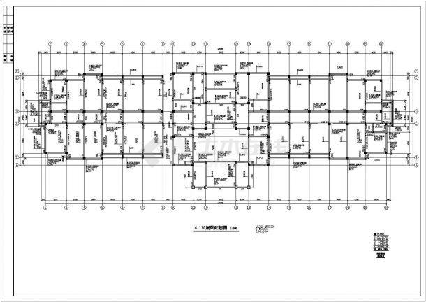 办公楼设计_某五层办公楼框架结构设计施工CAD图纸-图一