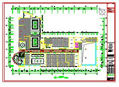 某地5层框架结构办公楼装修设计全套cad施工图纸-图二