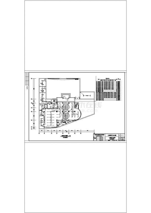 某五层办公楼电气设计施工方案CAD图纸-图二