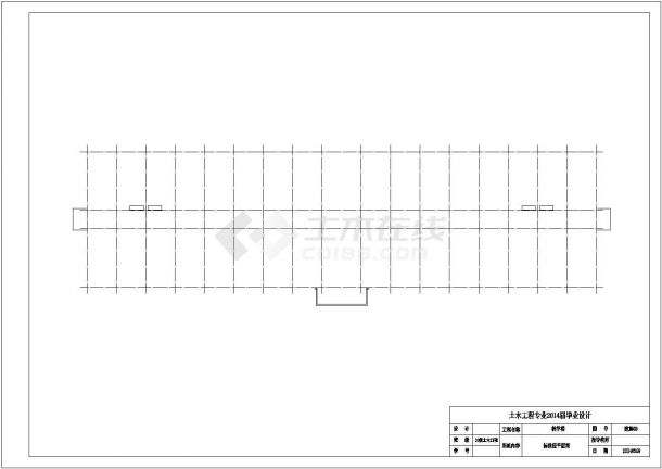某五层框架结构教学楼设计施工方案CAD图纸-图二