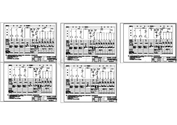 典型箱式变压器电气设计图纸-图一