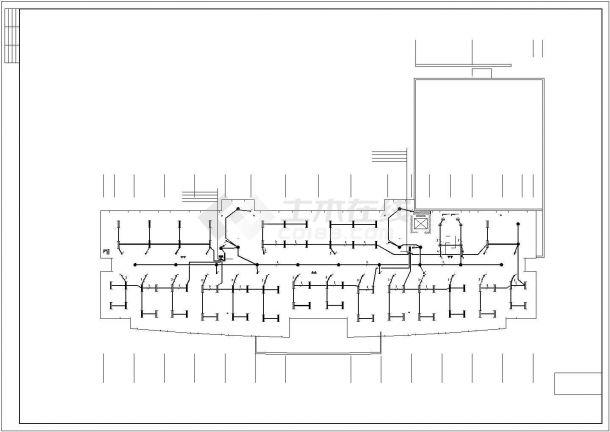 某行政楼五层办公楼电气设计施工方案CAD图纸-图一