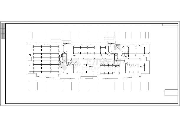 某行政楼五层办公楼电气设计施工方案CAD图纸-图二