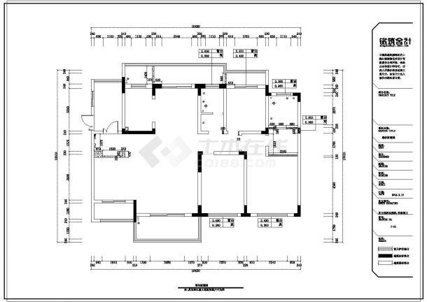 某4室2厅2卫-某私人住宅室内装修设计cad图纸(欧式风格装修)-图二