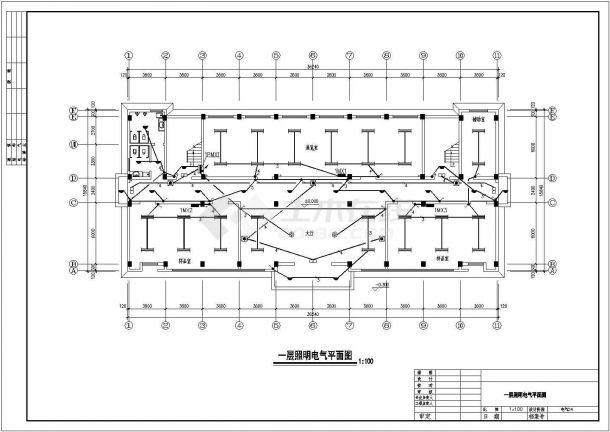 办公楼设计_公司地上五层办公楼电气CAD图纸-图一