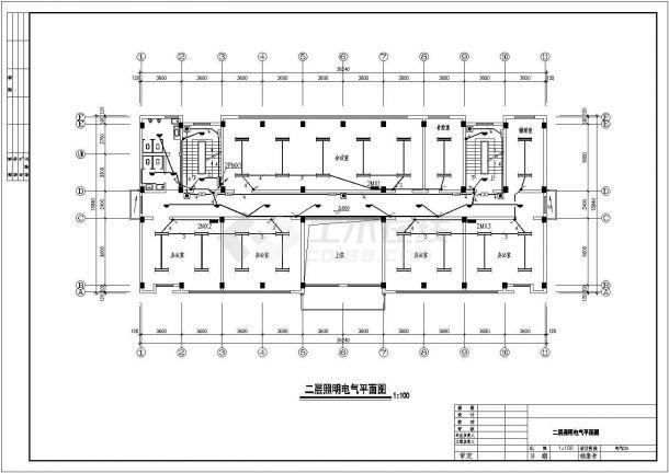 办公楼设计_公司地上五层办公楼电气CAD图纸-图二
