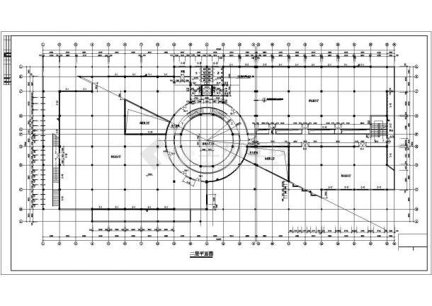 办公楼设计_某商业中心五层办公楼建筑设计施工CAD图纸-图一
