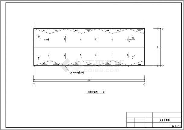某六层一字型框架结构教学楼(5300平米左右)设计cad全套建筑施工图(含设计说明,含结构设计)-图二