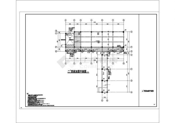 [上海]五层框架结构教学楼结构改造加固建筑设计施工图?-图一
