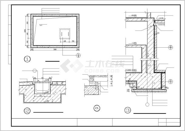 某高层住宅小区大样收集设计施工方案CAD图纸-图二