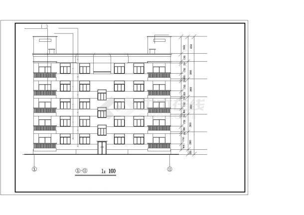 某高层住宅小区建筑大样收集设计施工方案CAD图纸-图一