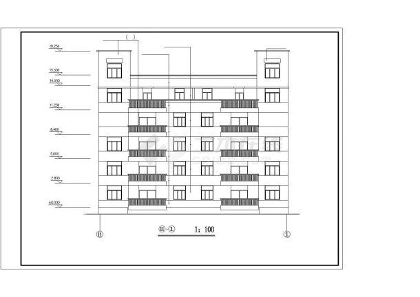 某高层住宅小区建筑大样收集设计施工方案CAD图纸-图二