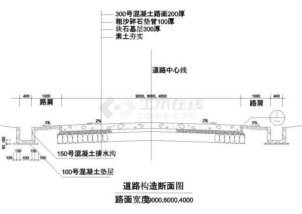 某高层住宅小区建筑室外构造设计施工方案CAD图纸-图一