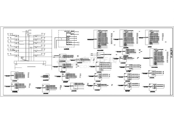 某经济开发区五层办公楼电气设计施工方案CAD图纸-图一