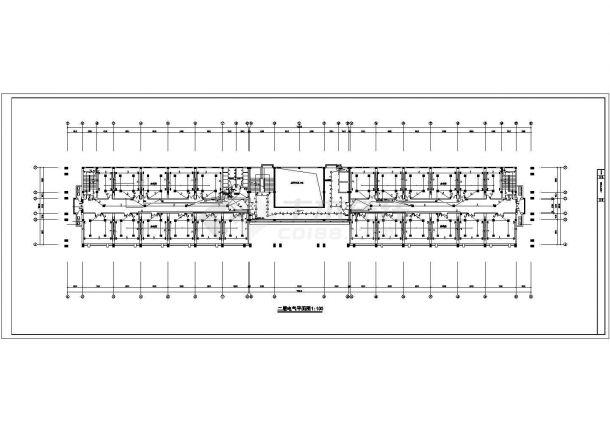 某经济开发区五层办公楼电气设计施工方案CAD图纸-图二