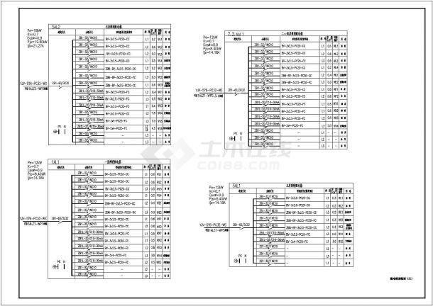 电气施工图_某中学教学楼电气施工CAD图纸-图二
