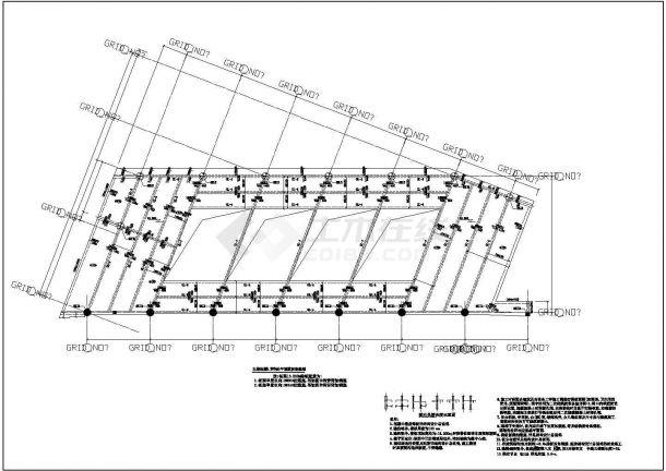 某框架结构办公楼建筑结构施工CAD图纸-图二