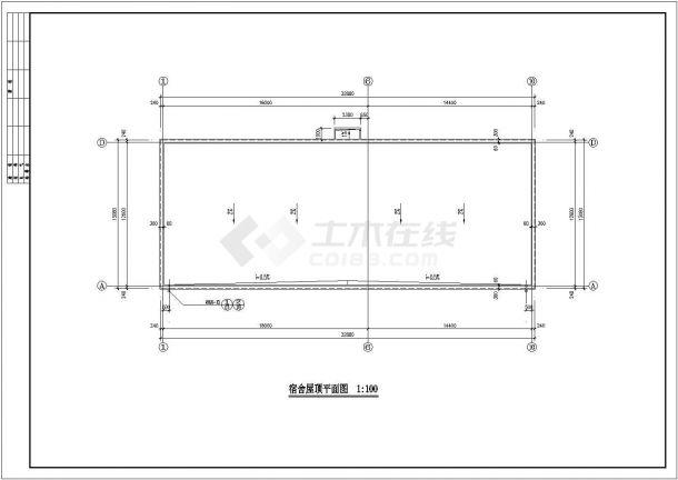 芜湖市某化工厂430平米单层砖混结构职工宿舍楼全套建筑设计CAD图纸-图一