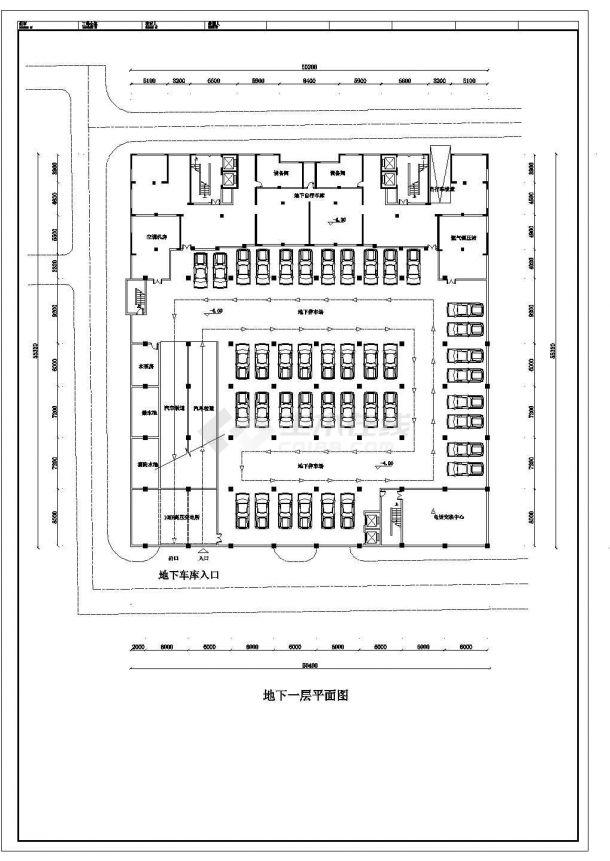 某大型多层框混结构商场设计cad平面方案图-图一