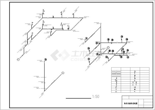 南京某小区双层小型别墅采暖系统设计CAD图纸-图一