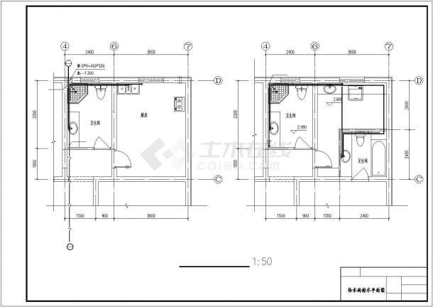南京某小区双层小型别墅采暖系统设计CAD图纸-图二