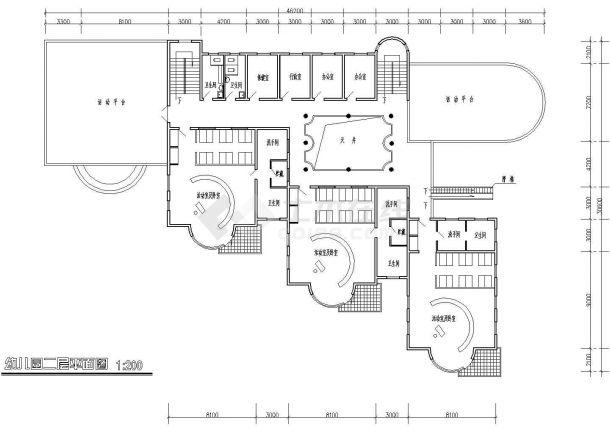 六班幼儿园详细规划方案cad施工图-图二