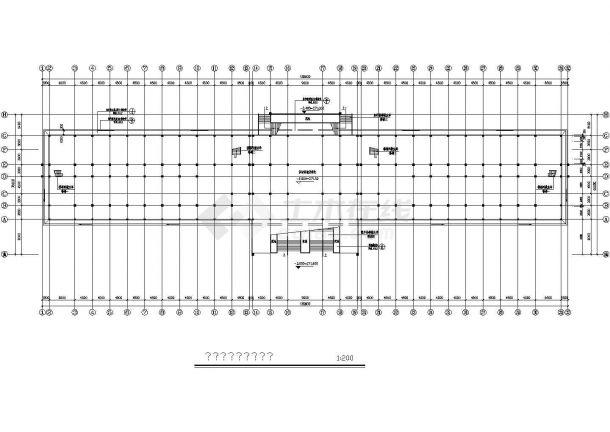某学校教学楼建筑规划cad施工图-图一