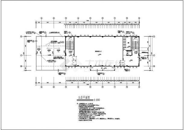 某小学多功能教学楼建筑规划cad施工图-图一