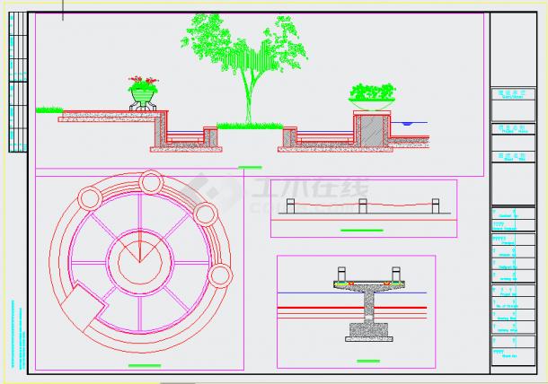 亲水平台施工大样设计图-图二