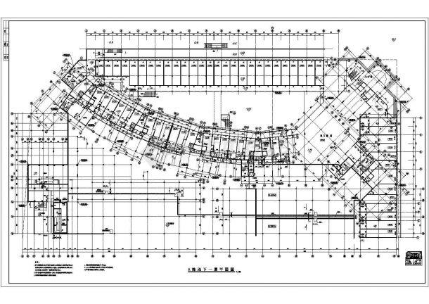 南方某高层住宅小区电梯房全套建筑施工cad图(A栋2)-图一