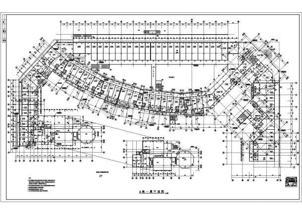 南方某高层住宅小区电梯房全套建筑施工cad图(A栋2)-图二