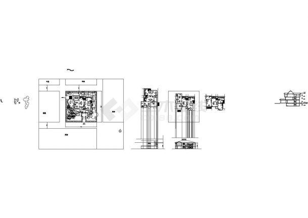 某中式小型郊区别墅建筑详细设计施工方案CAD图纸-图一