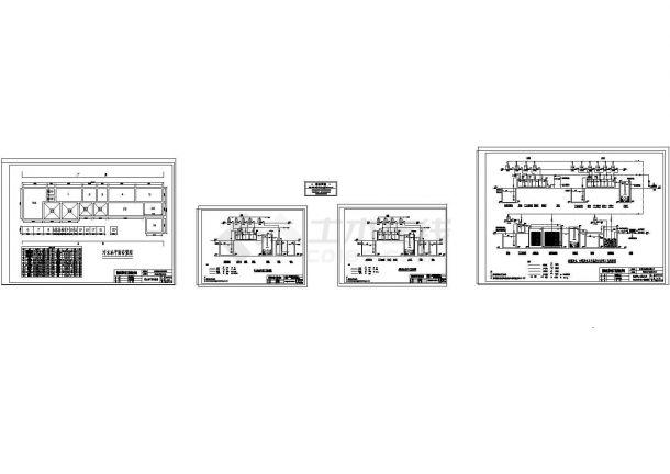 广东某线路板厂生产废水处理工艺流程图(cad)-图一