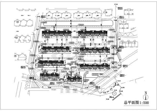 花园洋房小区规划施工图纸-图一