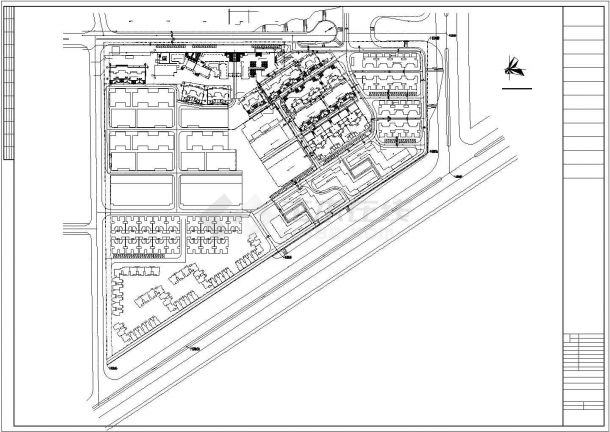 武汉市某小区给排水管网系统设计CAD图纸-图一