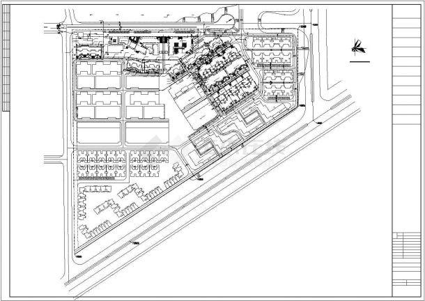 武汉市某小区给排水管网系统设计CAD图纸-图二