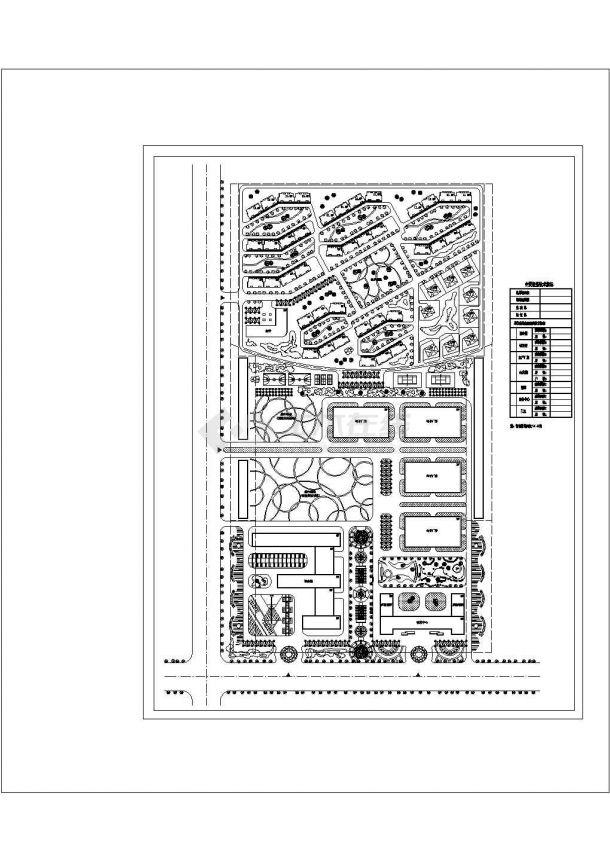 某厂区平规划总图纸设计-图一