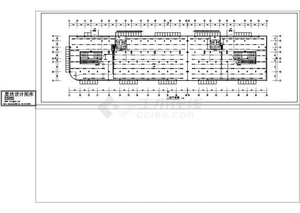 商住楼电施图CAD图纸-图二