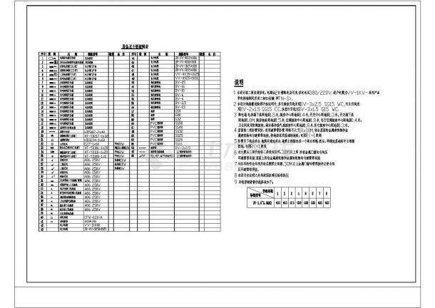 商住楼电施图CAD图纸2-图一