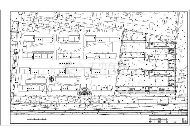 温州市昌金路广岚花园小区总平面规划设计CAD图纸-图一