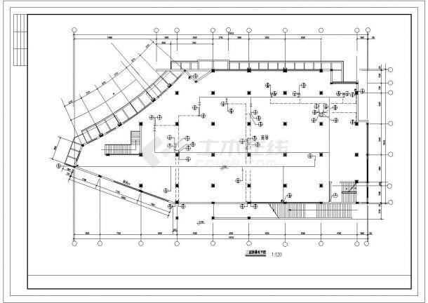 商住楼电气设计图纸cad图纸-图二