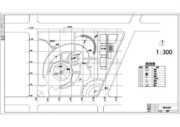 某小游园环境景观设计cad总平面施工图(含设计说明)-图一